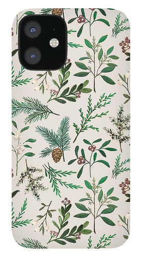 Winter Berry Pattern - Phone Case