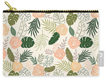 Load image into Gallery viewer, Yellow and Green Tropical Floral Patten - Carry-All Pouch