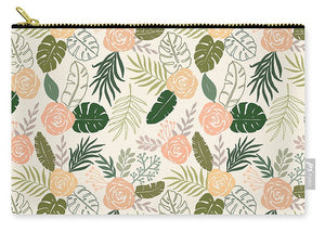 Yellow and Green Tropical Floral Patten - Carry-All Pouch