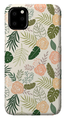Yellow and Green Tropical Floral Patten - Phone Case