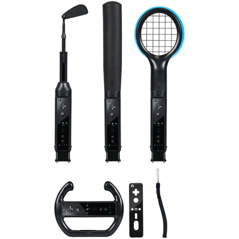 CTA Digital WI-6KB Nintendo Wii(R) Grand Slam 6-in-1 Sports Pack (Black)