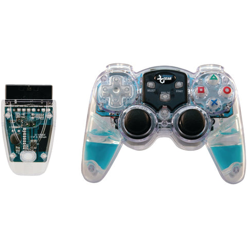 DREAMGEAR DGPN-524 PlayStation(R)2 Lava Glow Wireless Controller (Blue)