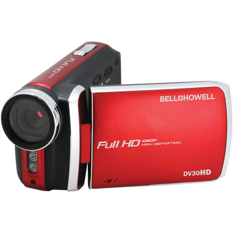 BELL+HOWELL DV30HD-R 20.0-Megapixel 1080p DV30HD Fun Flix(R) Slim Camcorder (Red)