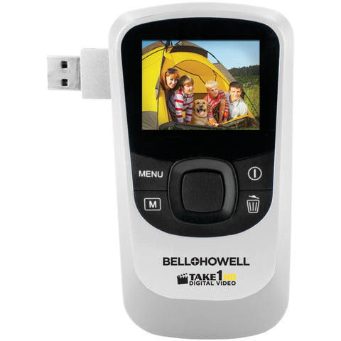 BELL+HOWELL T10HD-W 5.0-Megapixel 1080p Take1HD Digital Video Camcorder with Flip-out USB (White)