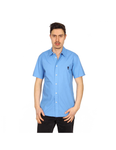 Marc Jacobs mens shirt short sleeve S84DL0197 S42594 519: Marc Jacobs mens shirt short sleeve S84DL0197 S42594 519 Light Blue 48 EUR - M