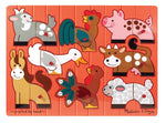 Farm Mix 'n Match Peg: Farm Mix 'n Match  Peg Puzzles