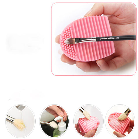 Cleaning Glove MakeUp Washing Brush Scrubber Board Cosmetic Clean PK