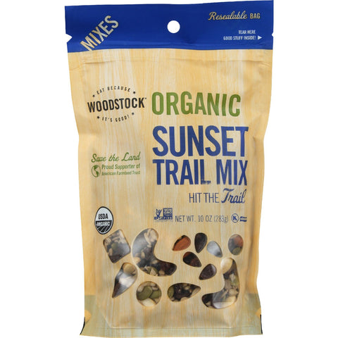 Woodstock Trail Mix - Organic - Sunset Mix - 10 oz - case of 8