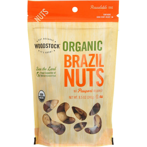 Woodstock Nuts - Organic - Brazil - 8.5 oz - case of 8