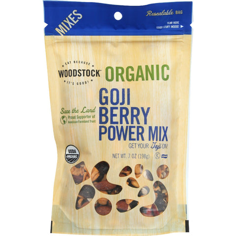 Woodstock Trail Mix - Organic - Goji Berry Power - 7 oz - case of 8
