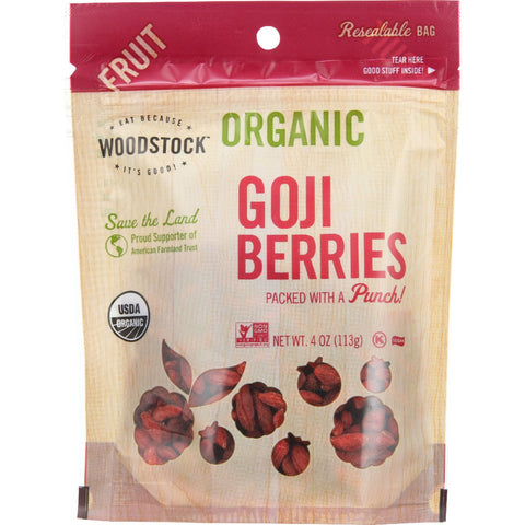 Woodstock Fruit - Organic - Goji Berries - 4 oz - case of 8
