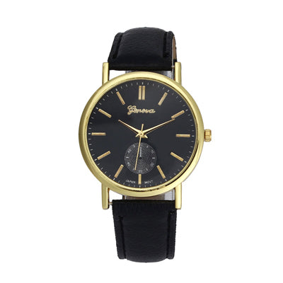 New Geneva Unisex Leather Band Analog Quartz Vogue WristWatch Watches