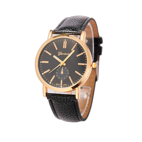 Unisex Leather Band Analog Quartz Vogue Wrist Watch Watches