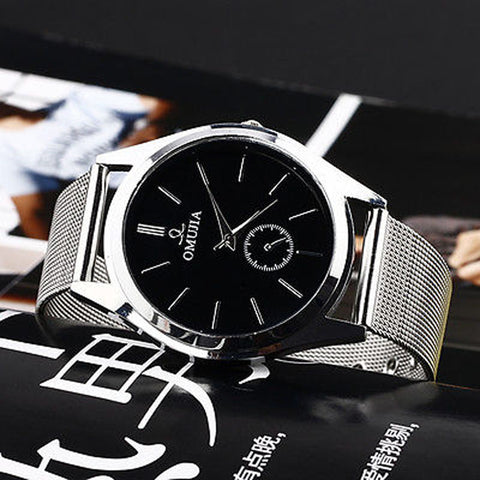Fashion Luxury Men's Women's Stainless Steel Band Quartz Wrist Watches