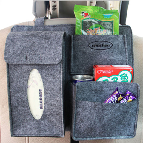 Multi-Pocket Travel Storage Bag Car Accessories Car Seat Organizer Gray