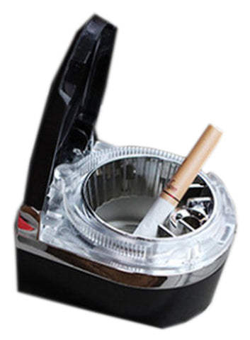Portable Stainless Auto Car Cigarette Ashtray LED Cigarette Ashtray Black