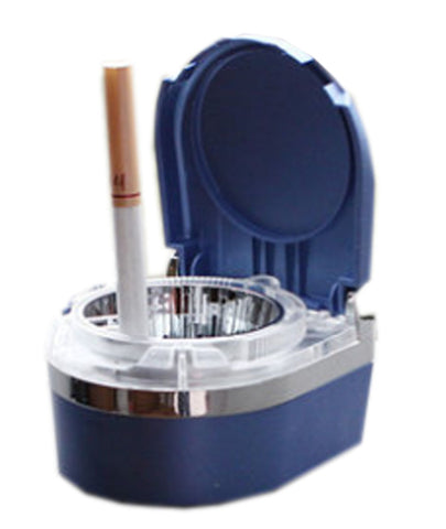 Portable Stainless Auto Car Cigarette Ashtray LED Cigarette Ashtray Blue
