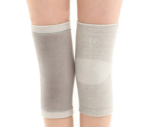 Soft Knee Brace Sleeve for Sports/Yoga/Dance/Arthritis/Joint Pain Gray (M)