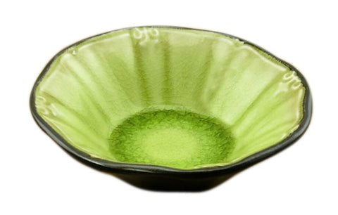 Set Of 4 Round Ceramic Sushi Sauce Dishes Restaurant Tableware/Supply Green