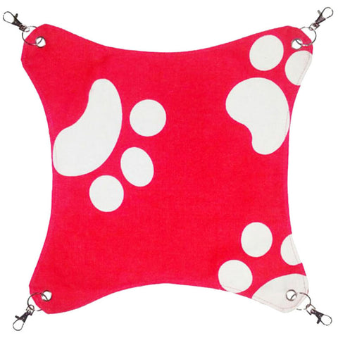 Pet Supplies Cat Beds Cat Hammock Cat Furniture 45 X 45 CM- Red Footprints
