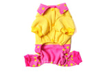 [Yellow Dots] Dog's Cute Bib Pants Pet Clothing Puppy Clothes Pet Apparel (MM)