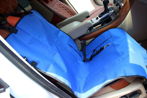 "Waterproof Solid Color Single Seat Dog Car Seat Cover BLUE (21""""Wx41""""L)"