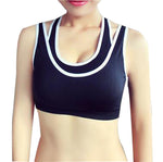 Comfortable Seamless Back Yoga Sport Bra Black Wireless Bra