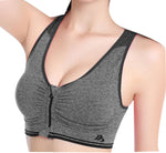 Sexy Womens Bra Comfortable Seamless Back Yoga Sport Bra Gray