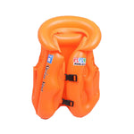 Orange Bright Inflatable Vest Swimwear Children Unisex