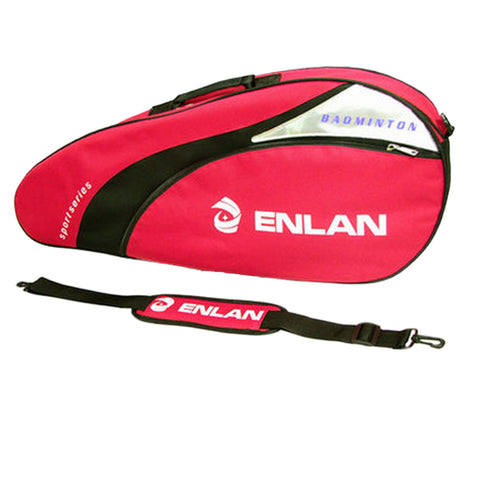 Sling Bag Large Capacity  Racquet Bag Waterproof Badminton Racket Cover, Red