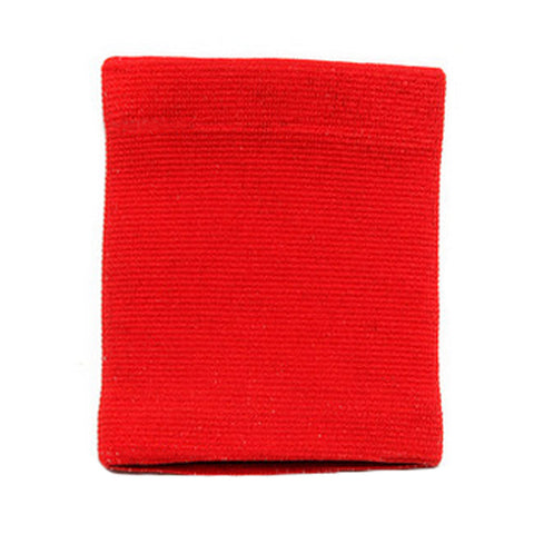 Pair of Sports Wristbands Wrist Support for Basketball Tennis Badminton, Red