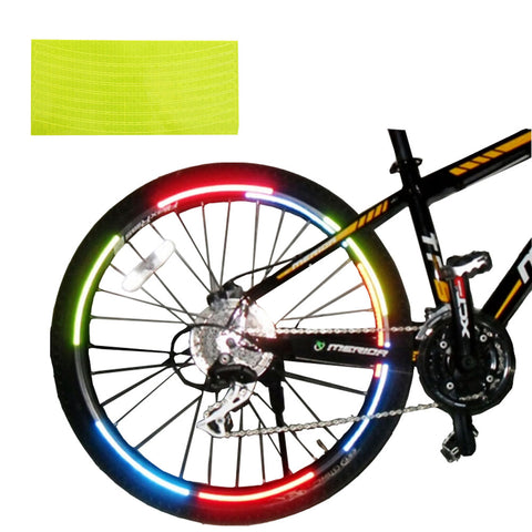 [YELLOW]Unique Colour 6 Pics Reflective Bike Rim Sticker Wheel Decal Sticker