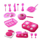 Pink Baby Girl Cookware Toy Set Pretend Play Toy