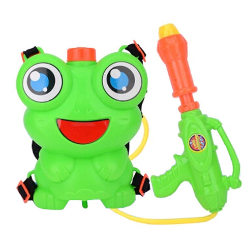 Children's Backpack Plastic Water Gun Water Pistol Squirt Games, Frog