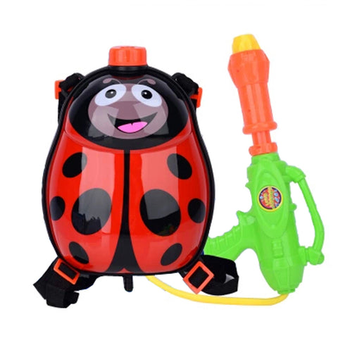 Children's Backpack Plastic Water Gun Water Pistol Squirt Games, Beetle
