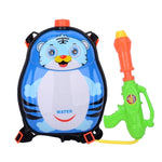 Children's Backpack Plastic Water Gun Water Pistol Squirt Games, Tiger