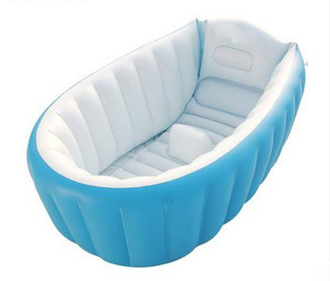 Folding Unique Non-slip Soft Safe Paddling Pool For Children Underwater(Blue)
