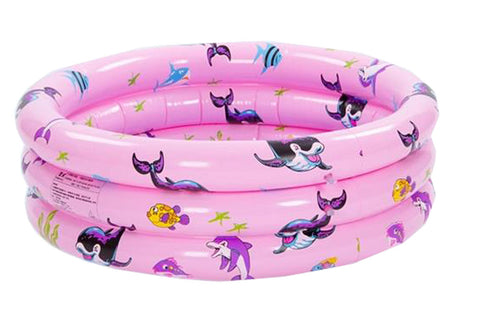 Inflatable Unique Non-slip Soft Safe Paddling Pool For Children Underwater(Pink)