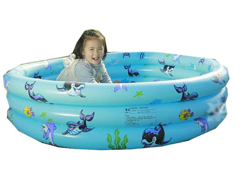 Inflatable Unique Non-slip Soft Safe Paddling Pool For Children Underwater(Blue)