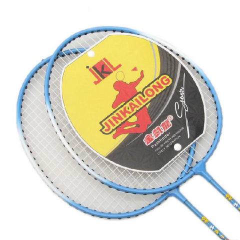 Kids Badminton Set, 2 Packs Badminton Racquets, a case, 3 Shuttlecocks BLUE