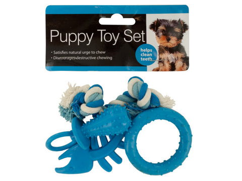 Puppy Teeth-Cleaning Toy Set: Case of 4