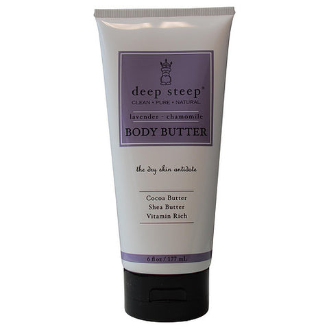 DEEP STEEP by Deep Steep LAVENDER-CHAMOMILE ORGANIC RICH BODY BUTTER 6 OZ