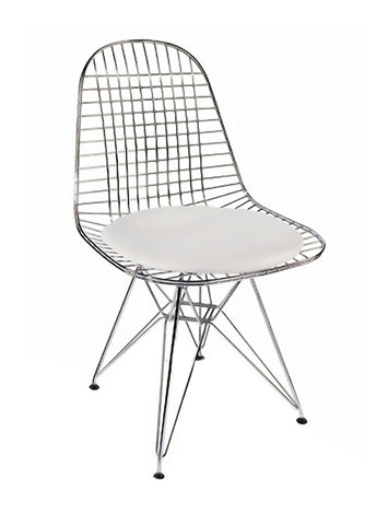 Fine Mod Imports Decorative Furniture Eiffel Dining Chair, White