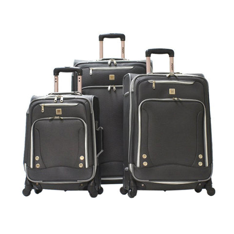 SKYHAWK 3PC EXP. LUGGAGE SET (BLACK)