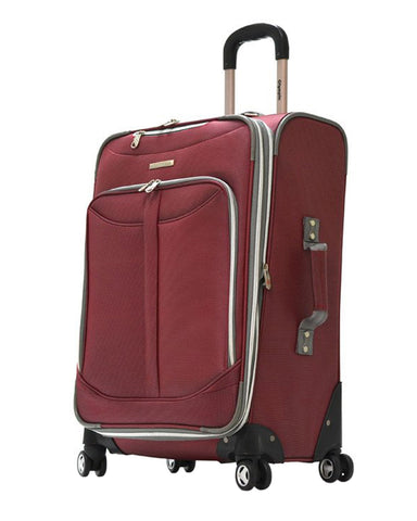 "Olympia Tuscany 21"""" Expandable Outdoor Travel Carry-on Luggage Suitcase in Red"