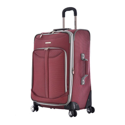 "Olympia Tuscany 25"""" Expandable Outdoor Travel Rolling Luggage Suitcase in Red"