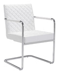 QUILT DINING CHAIR WHITE (Set of 2)