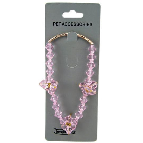 Crystal Necklace Pet Jewelry
