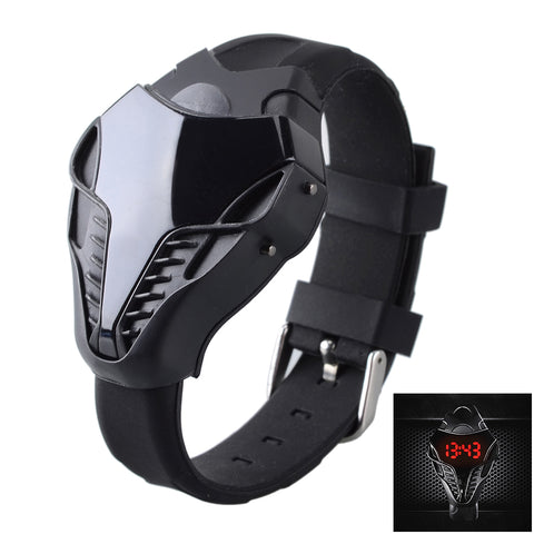 Hot Sale Men's Fashion Cobra LED Digital Triangle Dial Silicone Sports Watches