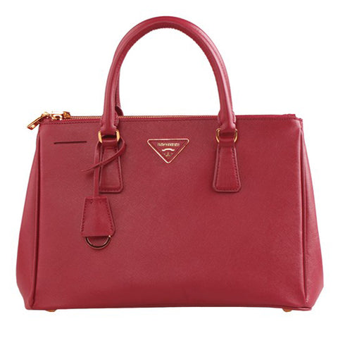 Red Leather Box Tote